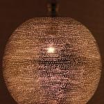 Bollamp Koraa zilver met gaatjes Ø40 (L)