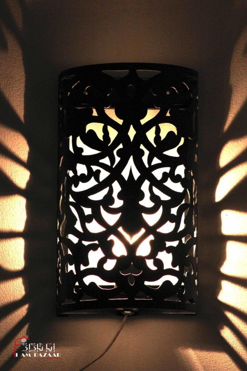 Zwarte design wandlamp i am bazaar for Design wandlamp